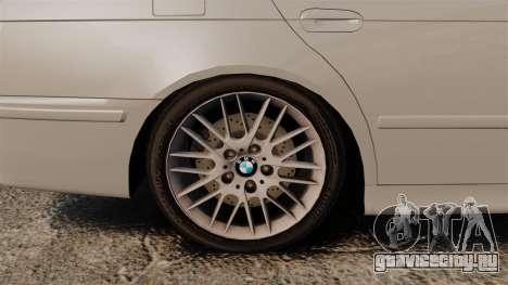 BMW 525i (E39) для GTA 4 вид сзади