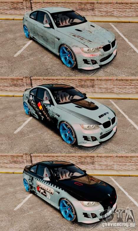 BMW M3 GTS Widebody для GTA 4 двигатель