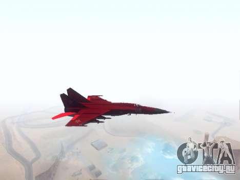 МиГ 25 для GTA San Andreas вид слева