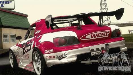Honda S2000 RS-R для GTA San Andreas вид сбоку