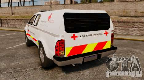Toyota Hilux French Red Cross [ELS] для GTA 4 вид сзади слева