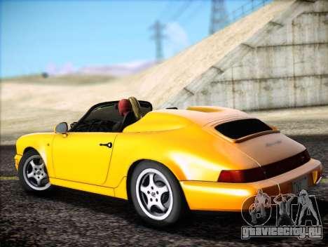 Porsche 911 Speedster Carrera 2 1992 для GTA San Andreas вид изнутри