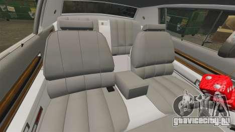 Cadillac Eldorado Coupe 1969 для GTA 4 вид сверху