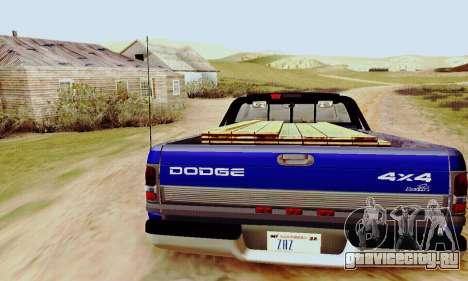 Dodge Ram 3500 для GTA San Andreas вид справа