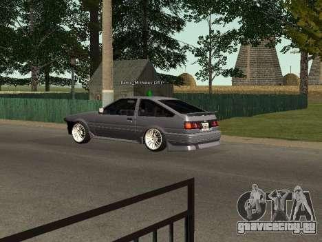 Toyota Corolla GTS Drift Edition для GTA San Andreas вид справа