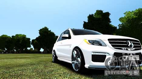 Mercedes-Benz ML63 AMG для GTA 4 вид изнутри