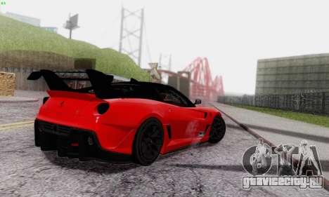 Ferrari 599XX Evolution для GTA San Andreas вид сверху