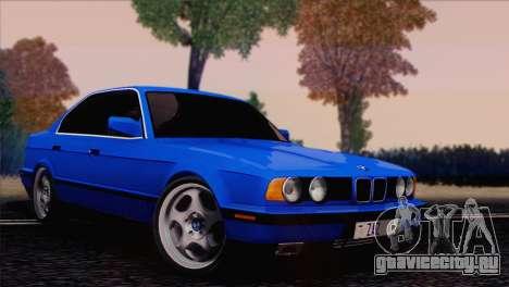 BMW 535i E34 Mafia Style для GTA San Andreas вид сзади слева