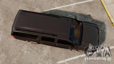 Chevrolet Suburban Slicktop 2008 [ELS] для GTA 4 вид справа