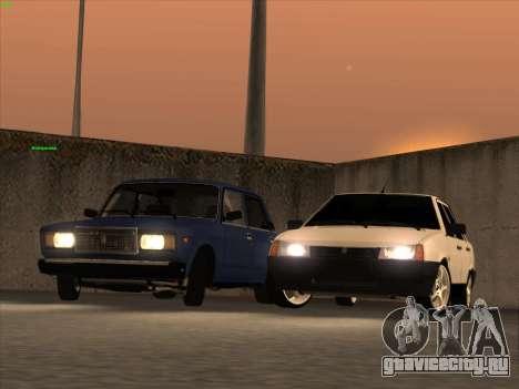 ВАЗ 21074 для GTA San Andreas вид сверху