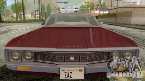 Chrysler New Yorker 4 Door Hardtop 1971 для GTA San Andreas вид справа