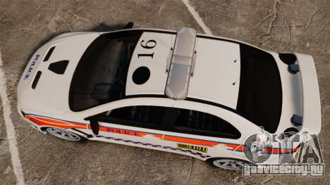 Mitsubishi Lancer Evo X Humberside Police [ELS] для GTA 4 вид справа