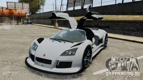 Gumpert Apollo S 2011 для GTA 4 вид сверху