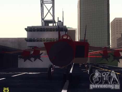 МиГ 25 для GTA San Andreas вид сверху