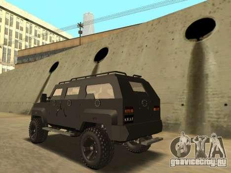 Ford Super Duty Armored для GTA San Andreas вид слева