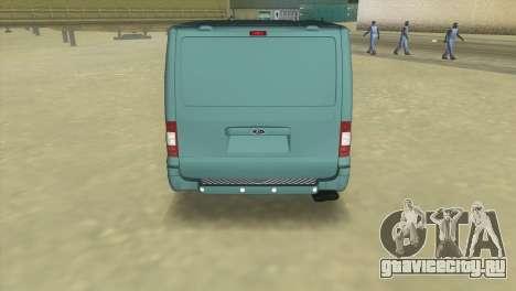 Ford Transit Sportback 2011 для GTA Vice City вид сзади слева