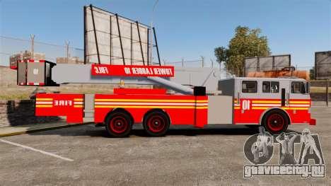 MTL Firetruck Tower Ladder [ELS-EPM] для GTA 4 вид слева