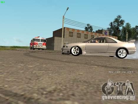 Nissan Skyline R33 GT-R для GTA San Andreas вид сзади слева