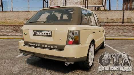 Range Rover Sport Unmarked Police [ELS] для GTA 4 вид сзади слева