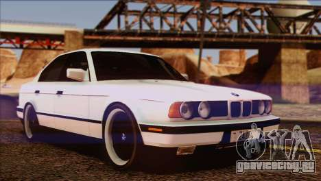 BMW 535i E34 Mafia Style для GTA San Andreas вид снизу