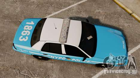 Ford Crown Victoria NYPD [ELS] для GTA 4 вид справа