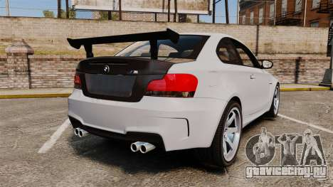 BMW 1M 2014 для GTA 4 вид сзади слева