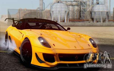 Ferrari 599XX Evolution для GTA San Andreas вид сзади
