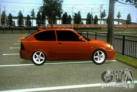 ВАЗ 2172 Coupe Sport для GTA San Andreas вид изнутри