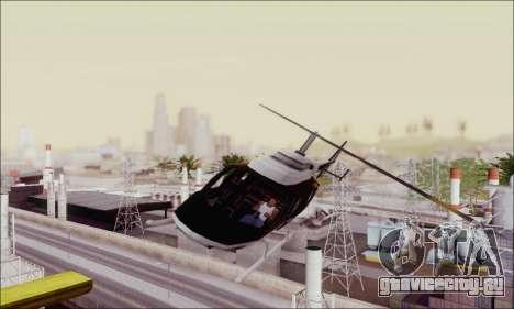 Police Maverick для GTA San Andreas вид сзади