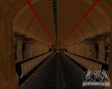 Ил-76ТД ИлАвиа для GTA San Andreas вид изнутри
