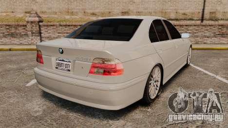 BMW 525i (E39) для GTA 4 вид сзади слева