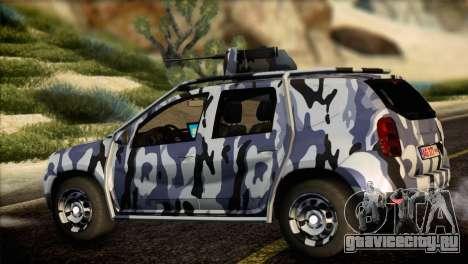 Dacia Duster Army Skin 3 для GTA San Andreas вид слева