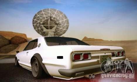 Nissan Skyline 2000GTR 1967 Hellaflush для GTA San Andreas вид справа