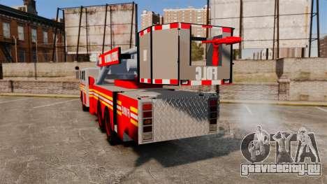 MTL Firetruck Tower Ladder [ELS-EPM] для GTA 4 вид сзади слева
