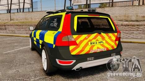 Volvo XC70 Police [ELS] для GTA 4 вид сзади слева