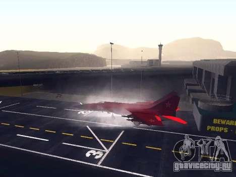 МиГ 25 для GTA San Andreas вид сзади