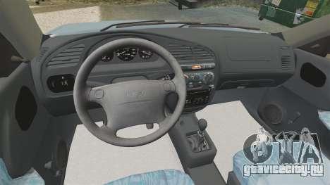 Daewoo Lanos 1997 PL для GTA 4 вид изнутри
