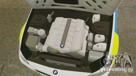 BMW M5 Unmarked Police [ELS] для GTA 4 вид изнутри