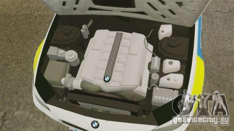 BMW M5 Greater Manchester Police [ELS] для GTA 4 вид изнутри