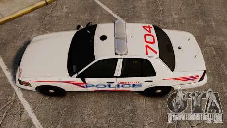 Ford Crown Victoria 2008 LCPD Patrol [ELS] для GTA 4 вид справа