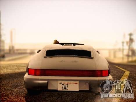 Porsche 911 Speedster Carrera 2 1992 для GTA San Andreas вид справа