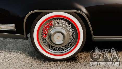 Cadillac Eldorado Coupe 1969 для GTA 4 вид сзади