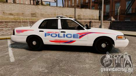 Ford Crown Victoria 2008 LCPD Patrol [ELS] для GTA 4 вид слева