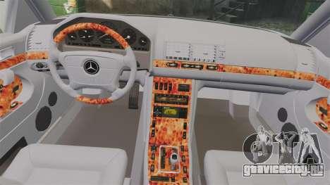 Mercedes-Benz S600 (W140) 1998 для GTA 4 вид сбоку