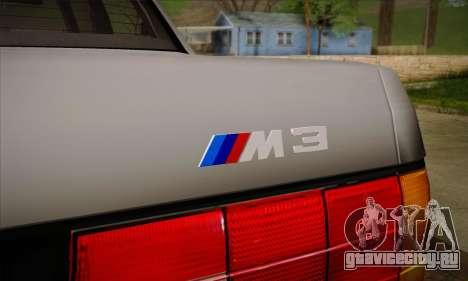 BMW M3 E30 для GTA San Andreas колёса