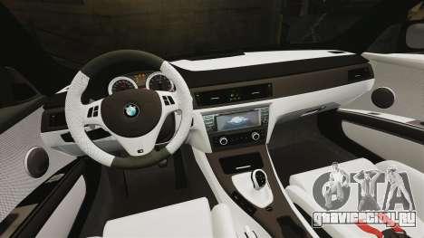BMW M3 GTS Widebody для GTA 4 вид снизу