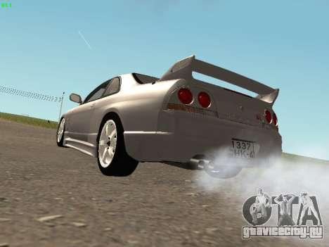 Nissan Skyline R33 GT-R для GTA San Andreas вид справа