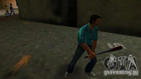 Окровавленная Бейсбольная Бита для GTA Vice City второй скриншот