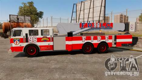 MTL Firetruck Tower Ladder FDLC [ELS-EPM] для GTA 4 вид слева