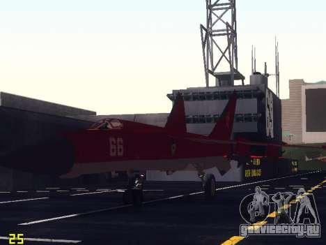 МиГ 25 для GTA San Andreas вид снизу